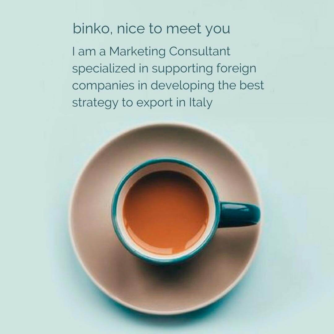 export in Italy marketing consultant